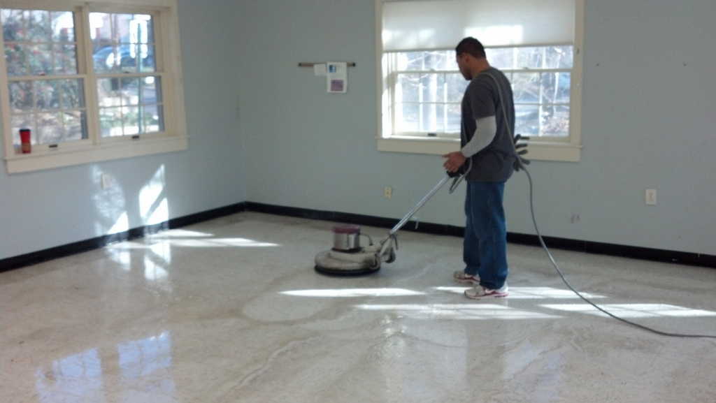 floor waxing services commercial