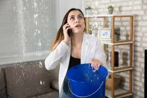 Woman Calling For Water damage repair
