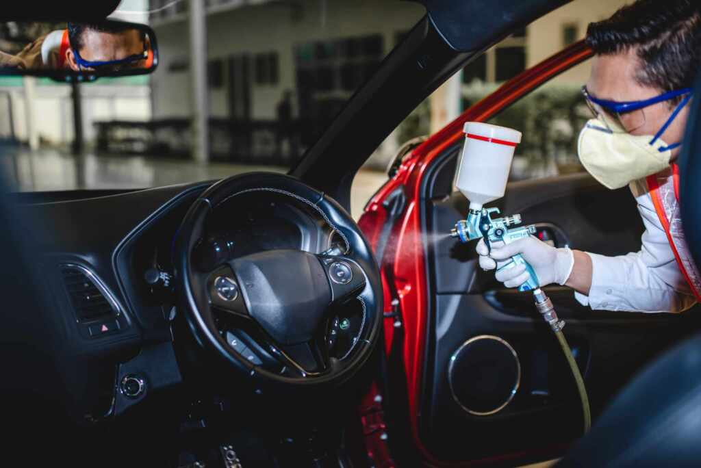 car disinfection services by MCA group Toronto