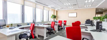 Open Space Office Cleaning by MCA Group Oakville