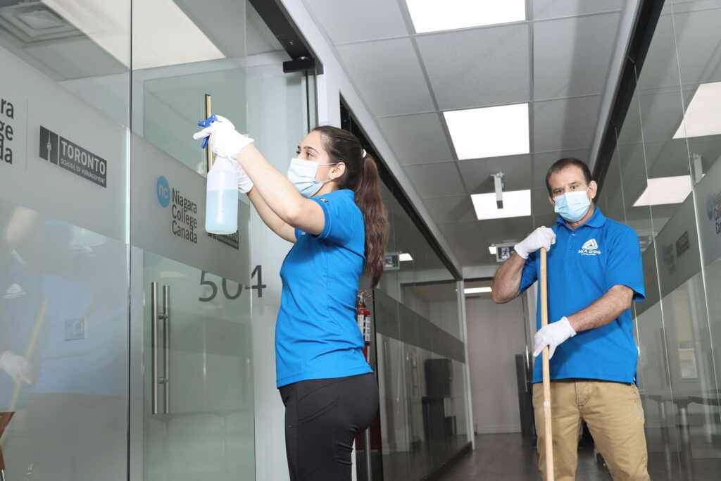 MCA Group Janitor Cleaning Office Building in North York