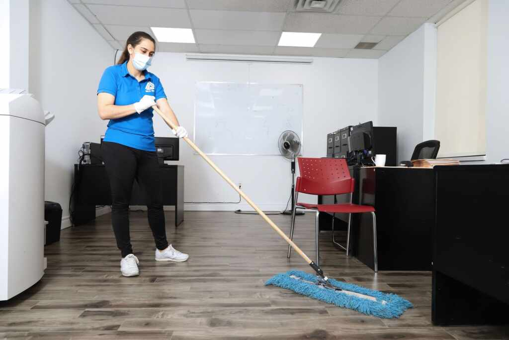Janitor Cleaning Office by MCA Group Waterloo